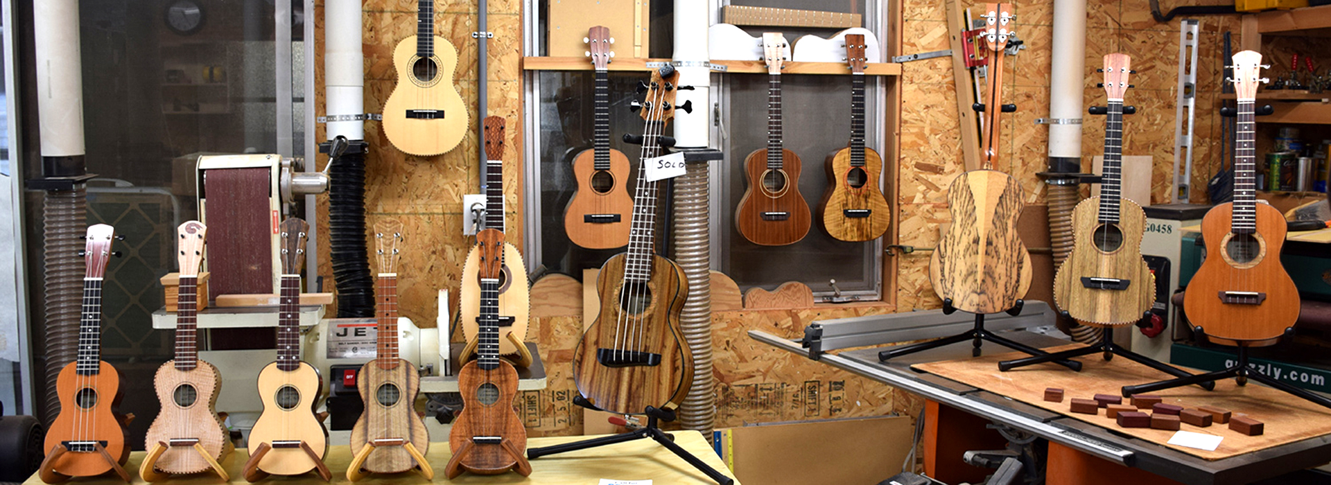 Howard Reploge's ukulele studio